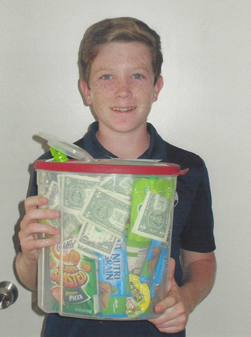 Grayson Giese jar of green stuff contest winner
