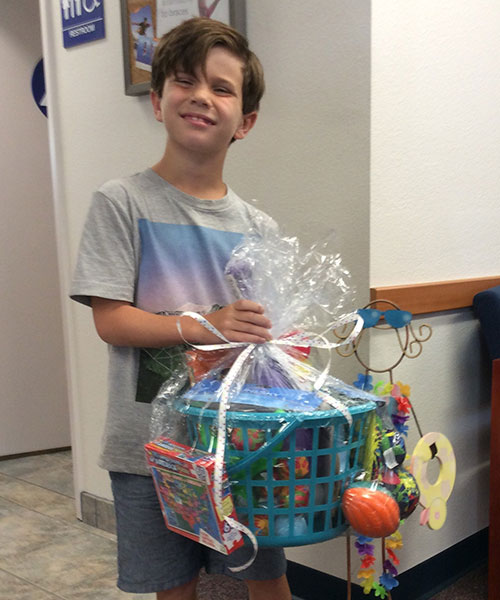 Pierce Cunninghman, winner of Stormberg Orthodontics 2017 contest