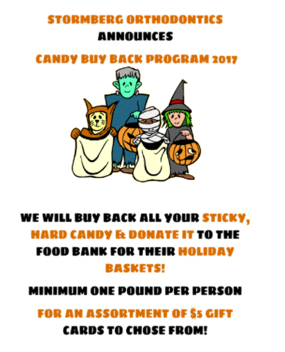Animated Characters In Halloween Costumes Holding Pillowcases Promoting Candy Buy Back Program